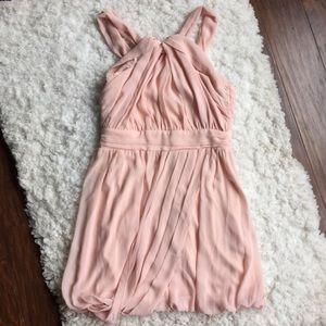 ASOS Blush Pink Sleeveless Chiffon Dress